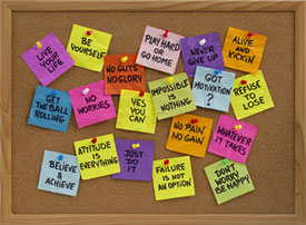 Positive Phrases Bulletin Board